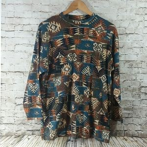 Woman's long sleeve top 1x Autumn colors Guc